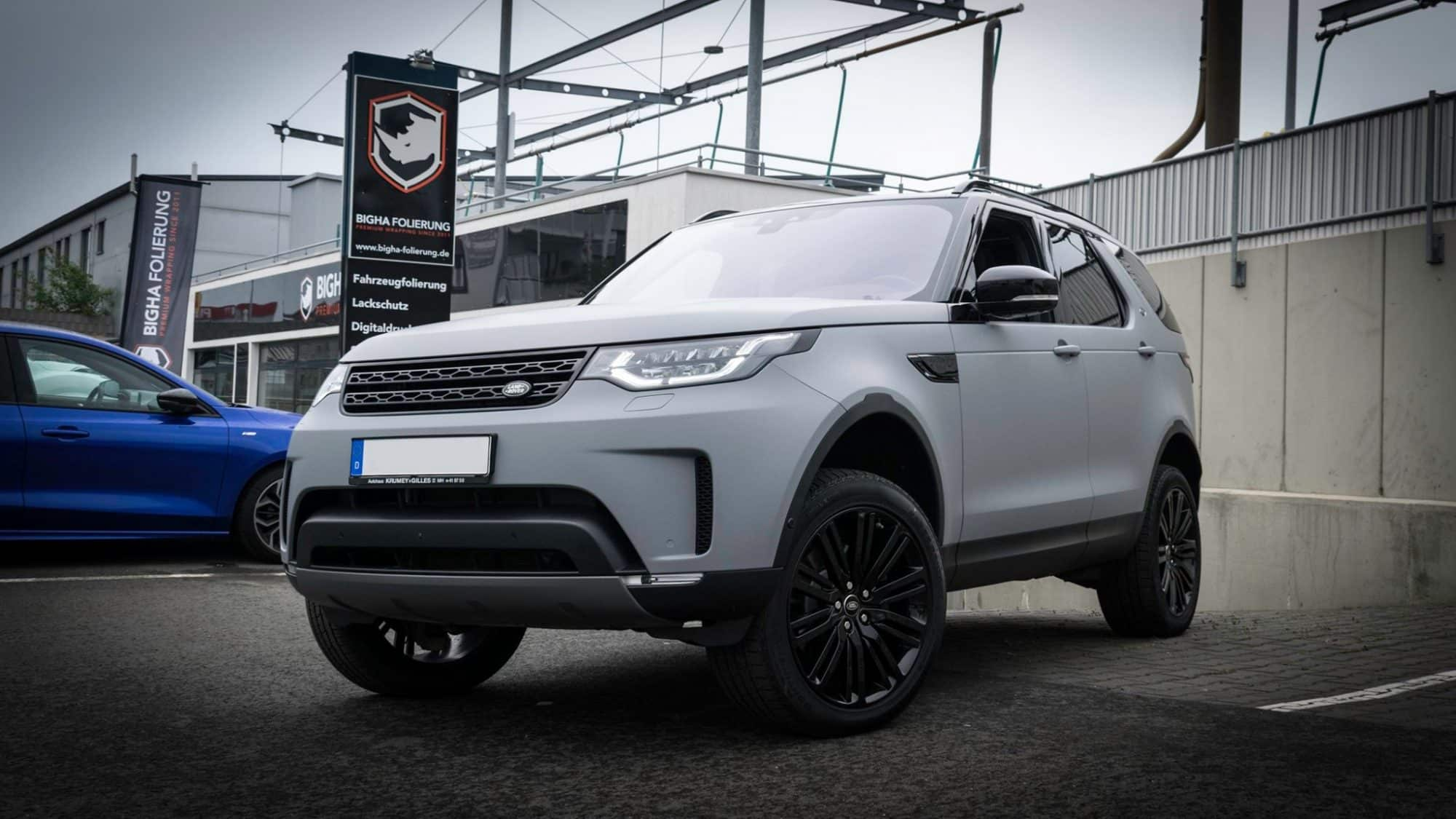 Land Rover DISOVERY Folierung Avery Dark Grey Matte