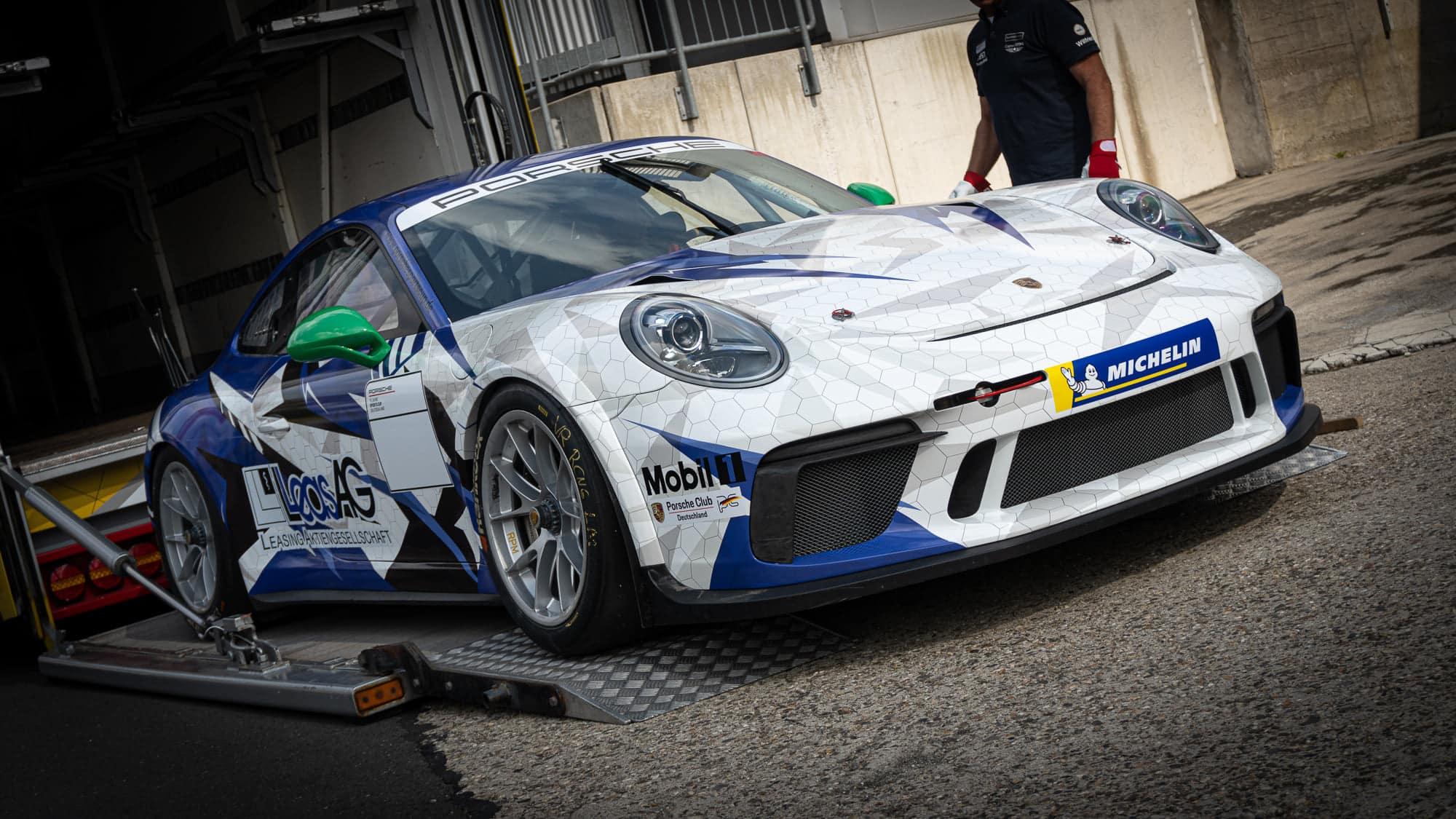 Porsche GT3Cup Rennwagen Folierung