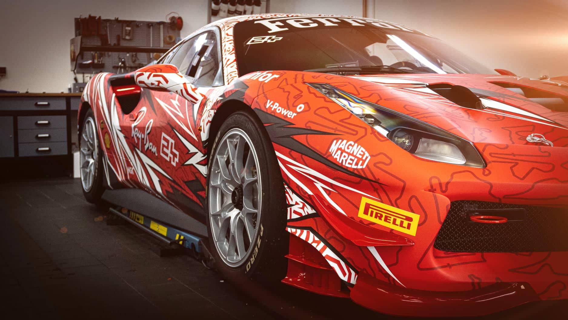 Ferrari Challenge 488 Digitaldruck Folierung Rennwagen