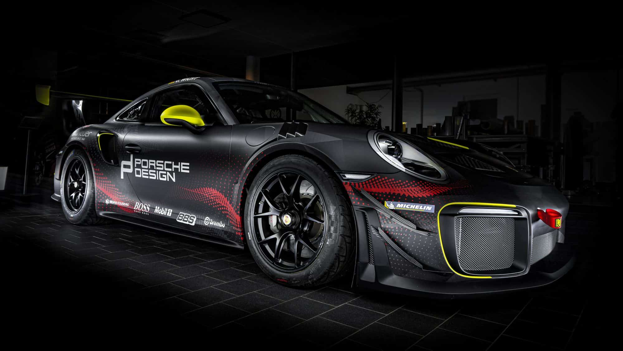 Porsche GT2 RS Clubsport Rennwagen Folierung Digitaldruck