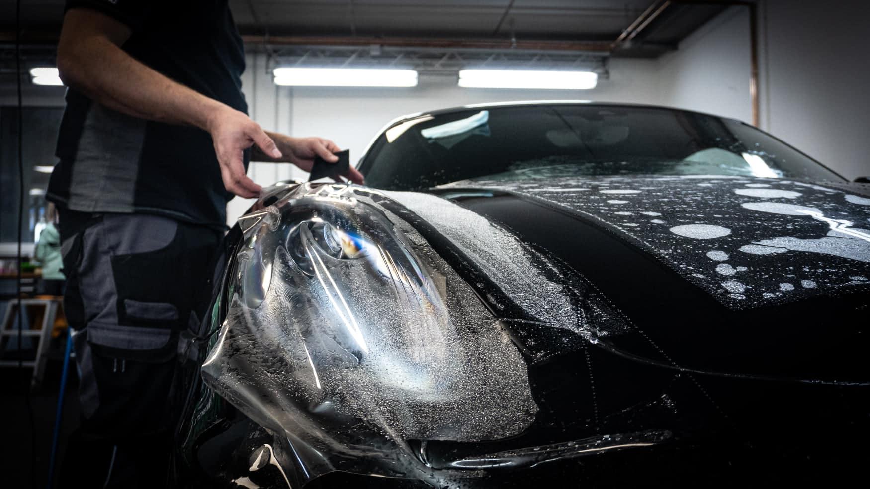 Lackschutz Steinschlagschutz XPEL Bodyfence Porsche Cayman