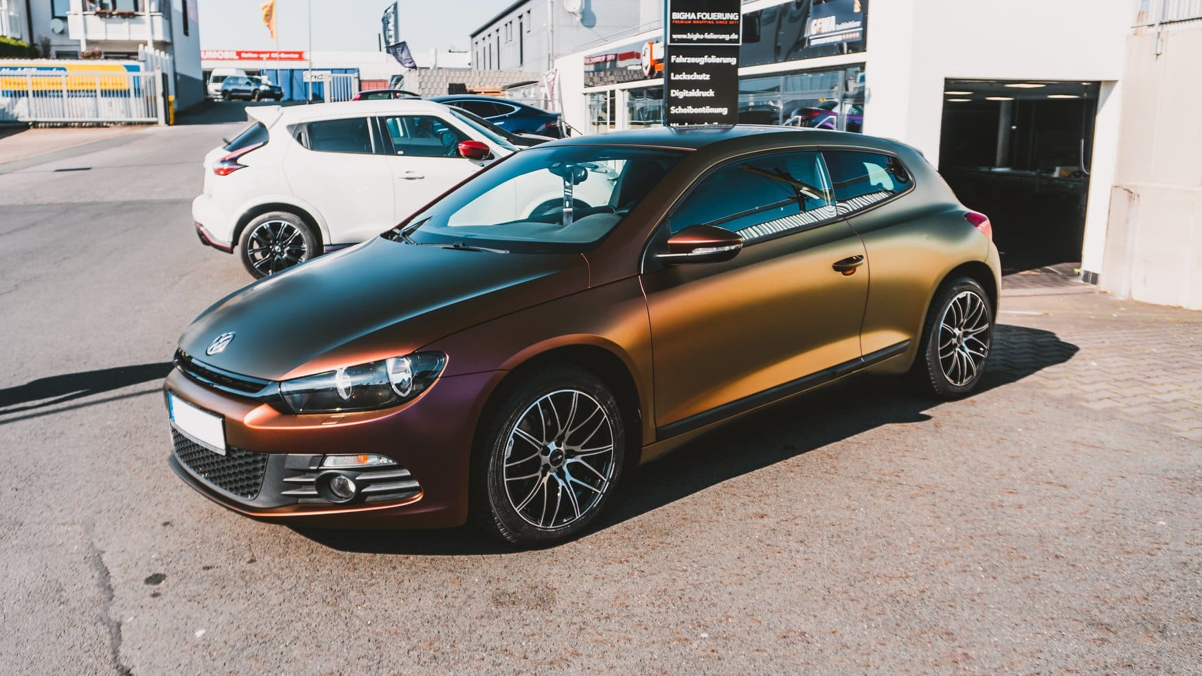 VW Scirocco Avery ColorFlow Rsining Sun Folierung Vollfolierung