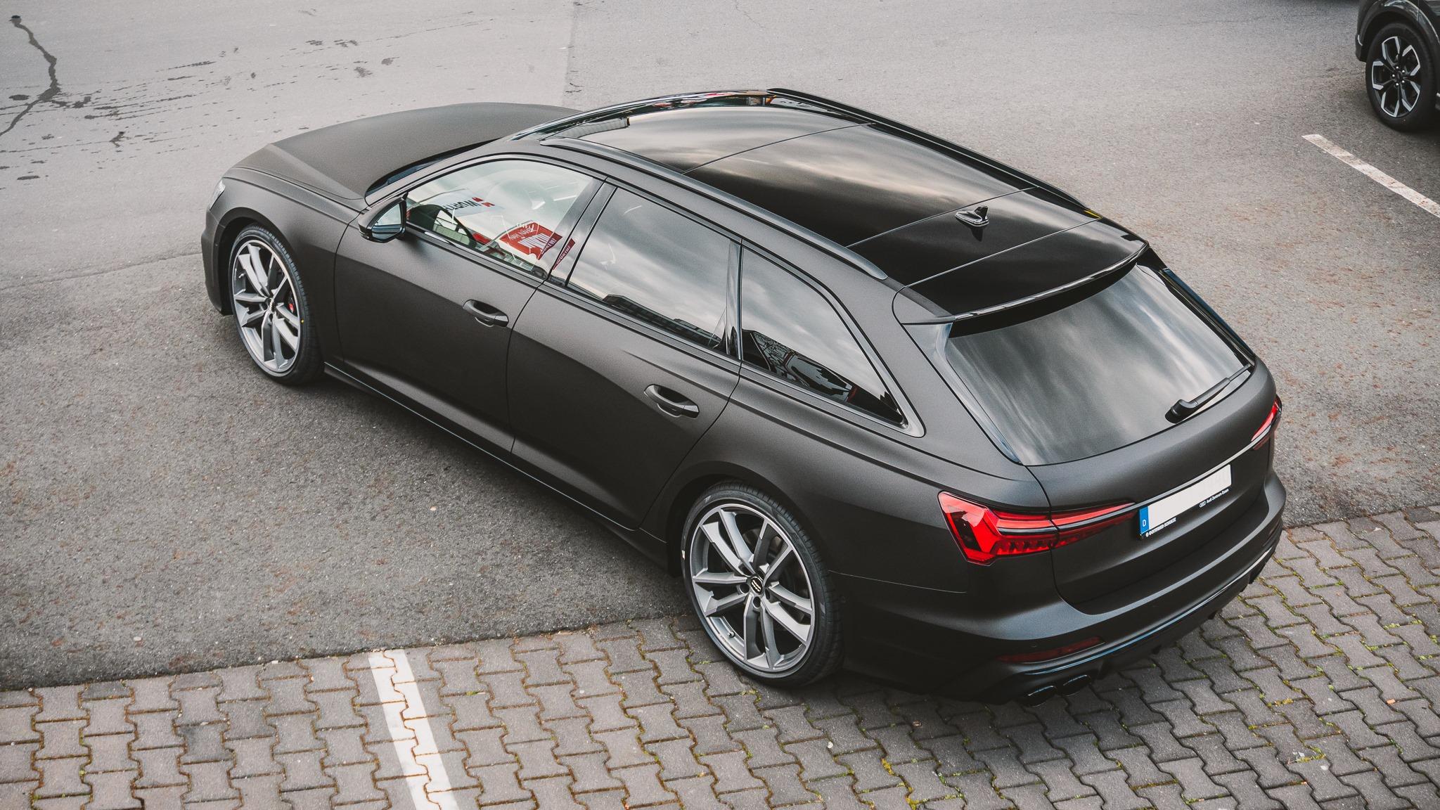 Audi S6 Folierung Folierer Vollfolierung schwarz matt metallic
