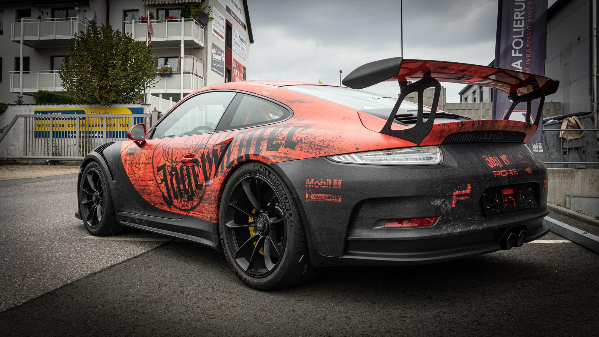 Porsche 911 GT3 RS Jägermeister Digitaldruckfolierung Folierung