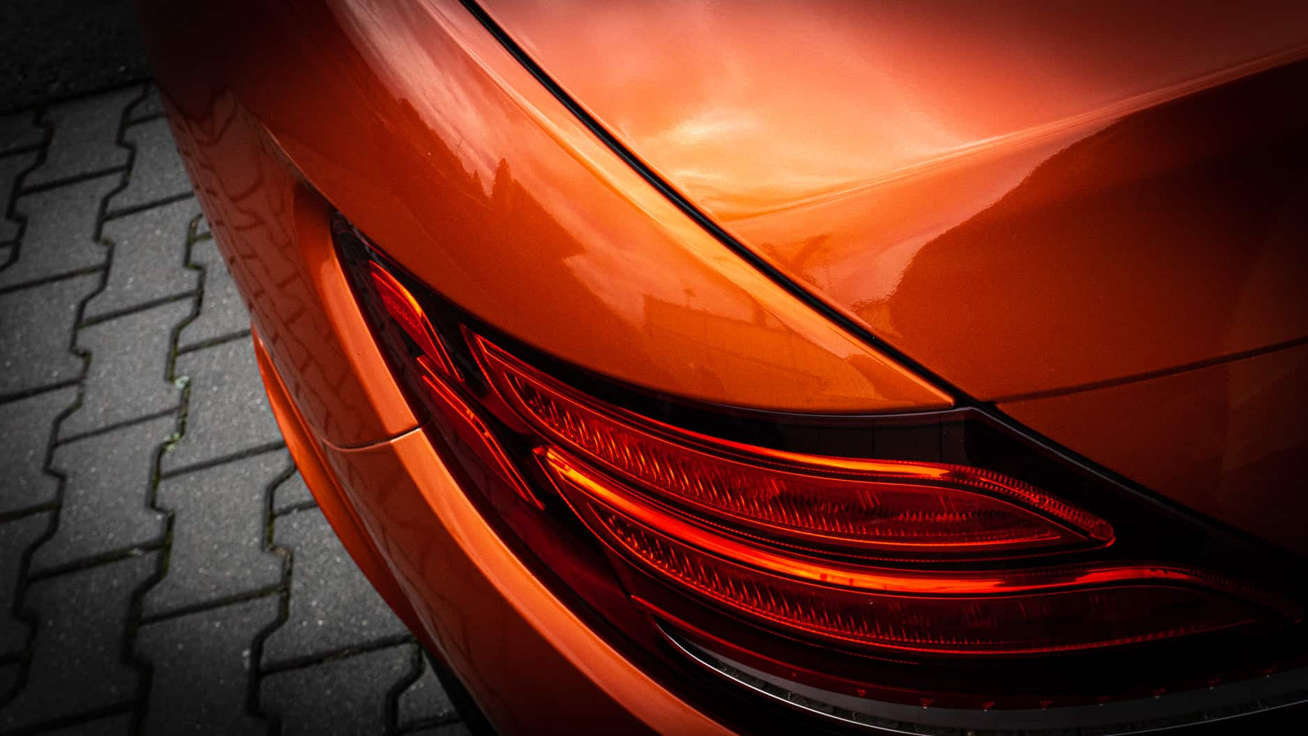 Mercedes SLC Fiery Orange 3M