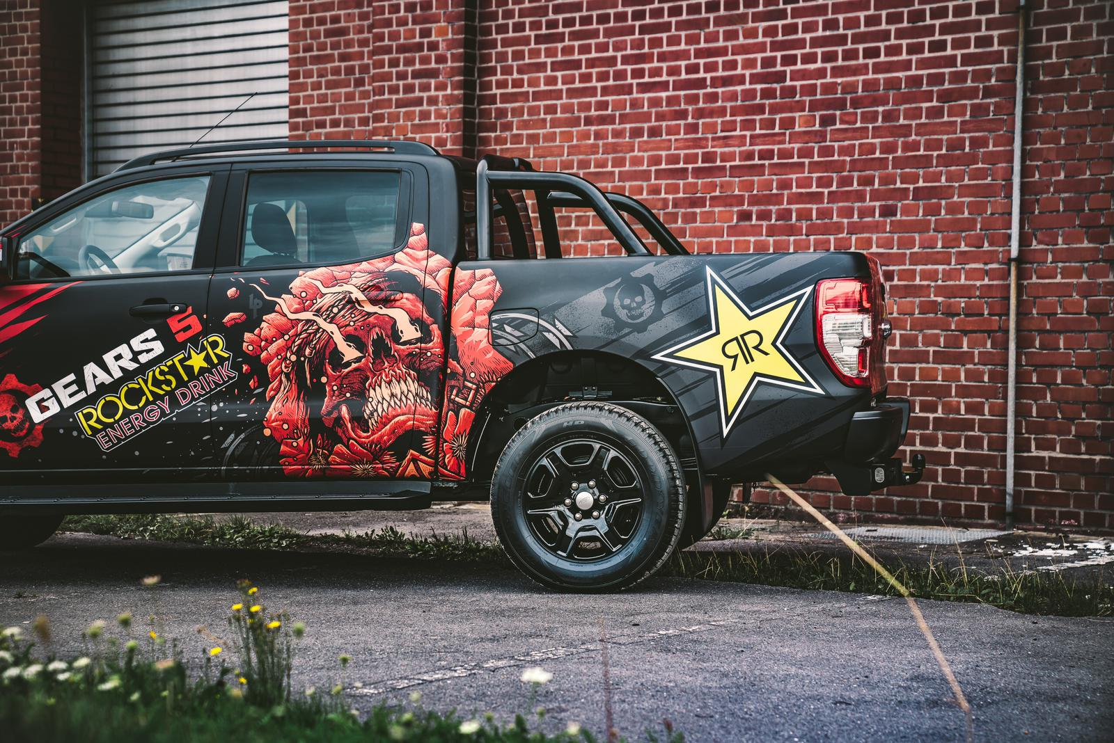 Rockstar Energy Digitaldruckfolierung Ford Ranger Gear 5