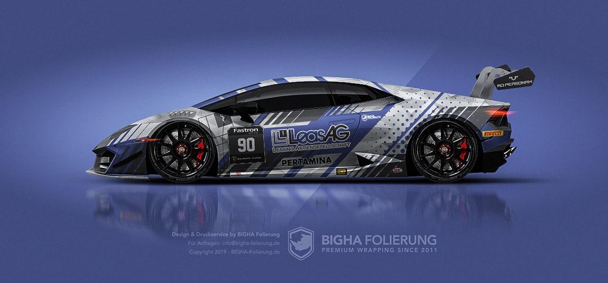 Rennwagen Design für Digitaldruckfolierung Design Digitaldruck