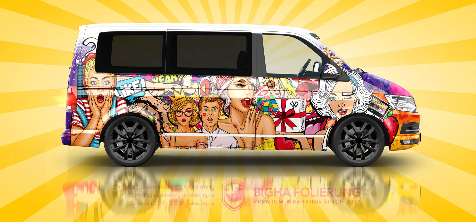 VW T6 Bus Digitaldruck Design Folierung