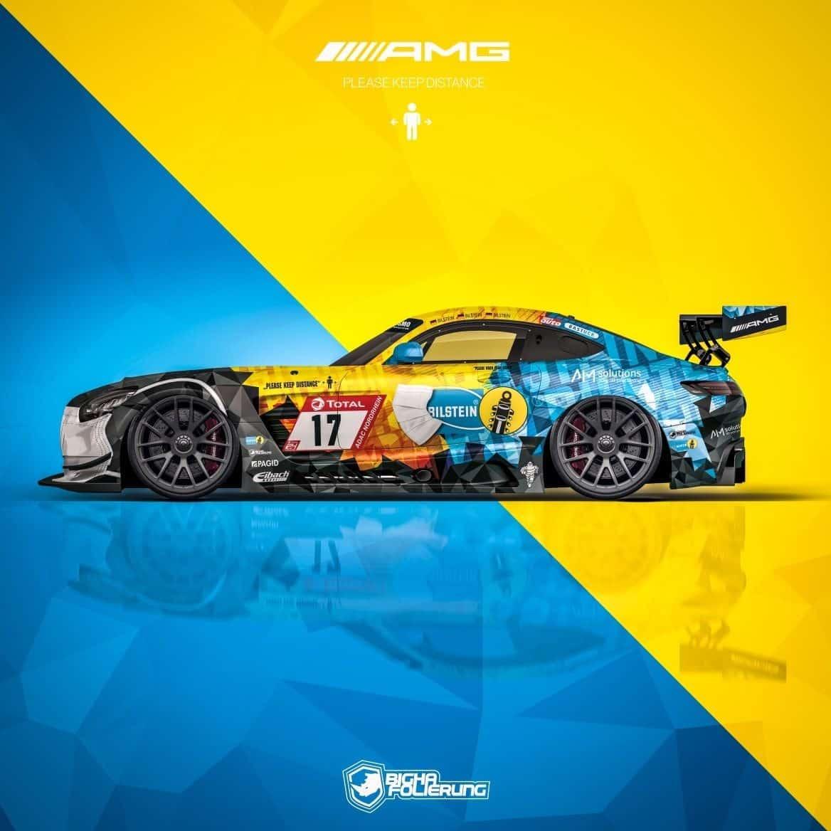 Design Bilstein AMG Gt3 Haupt Racing Team 24h Rennen