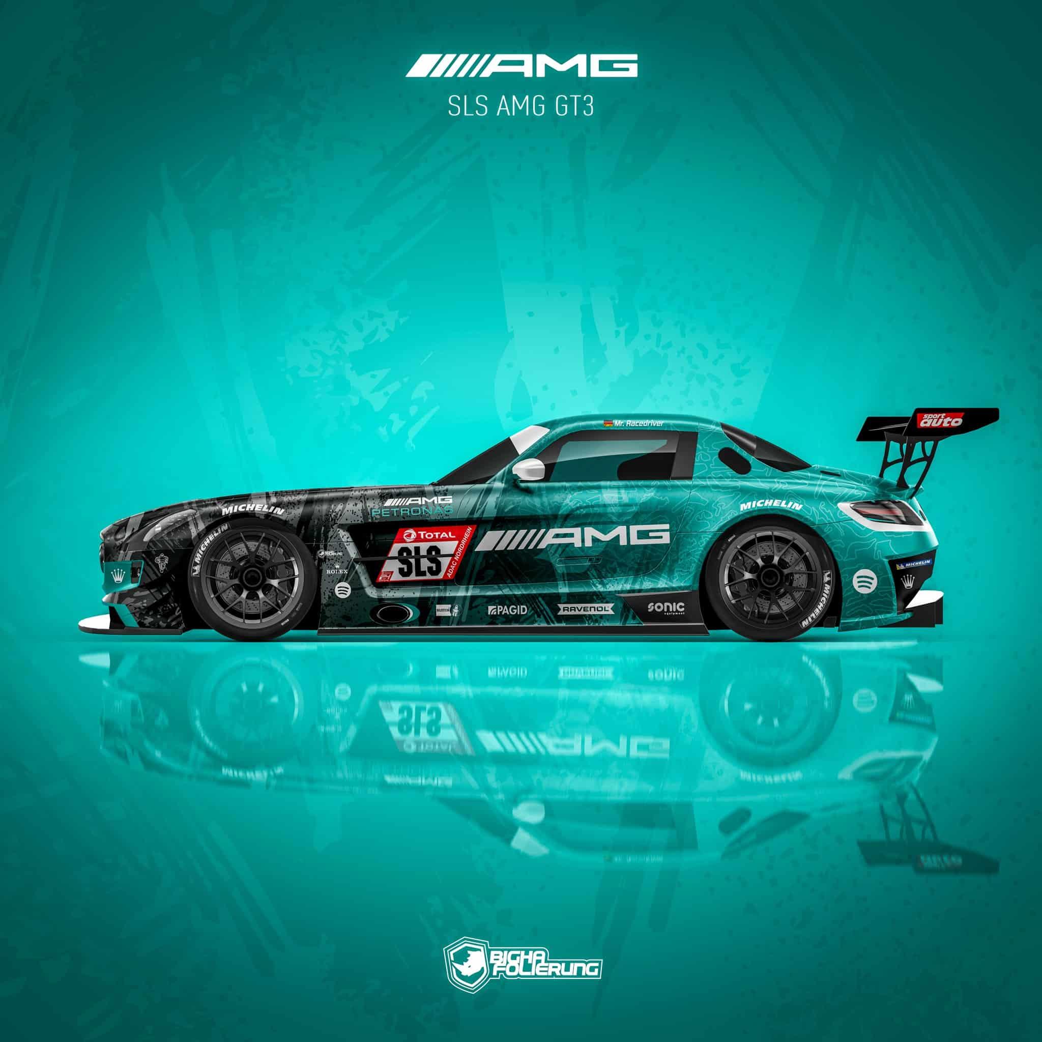 Mercedes SLS AMG GT3 Design Rennwagen